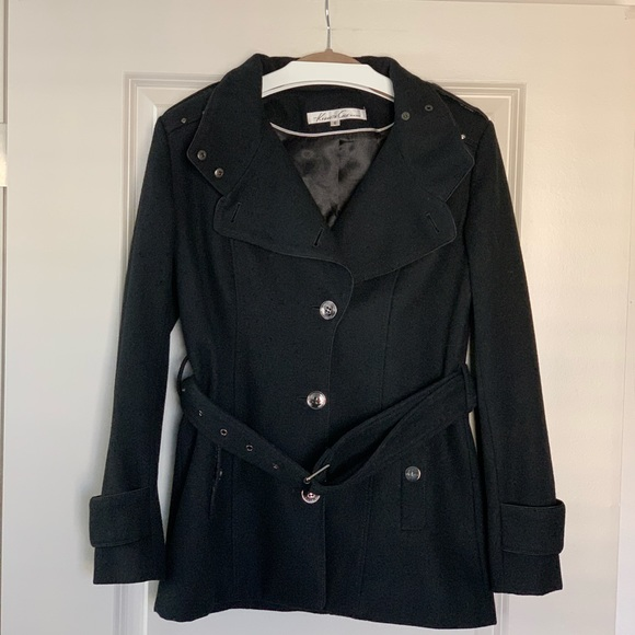 Kenneth Cole Jackets & Blazers - Kenneth Cole wool blend pea coat black size 6
